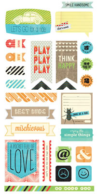 Basic Grey - Knee high & Bow Ties - Tile Stickers